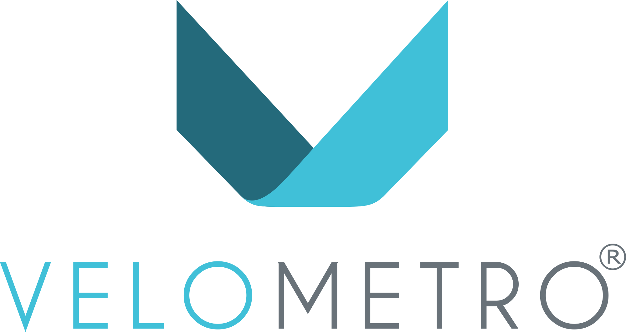 Registered VeloMetro Logo - Stacked Colour 1