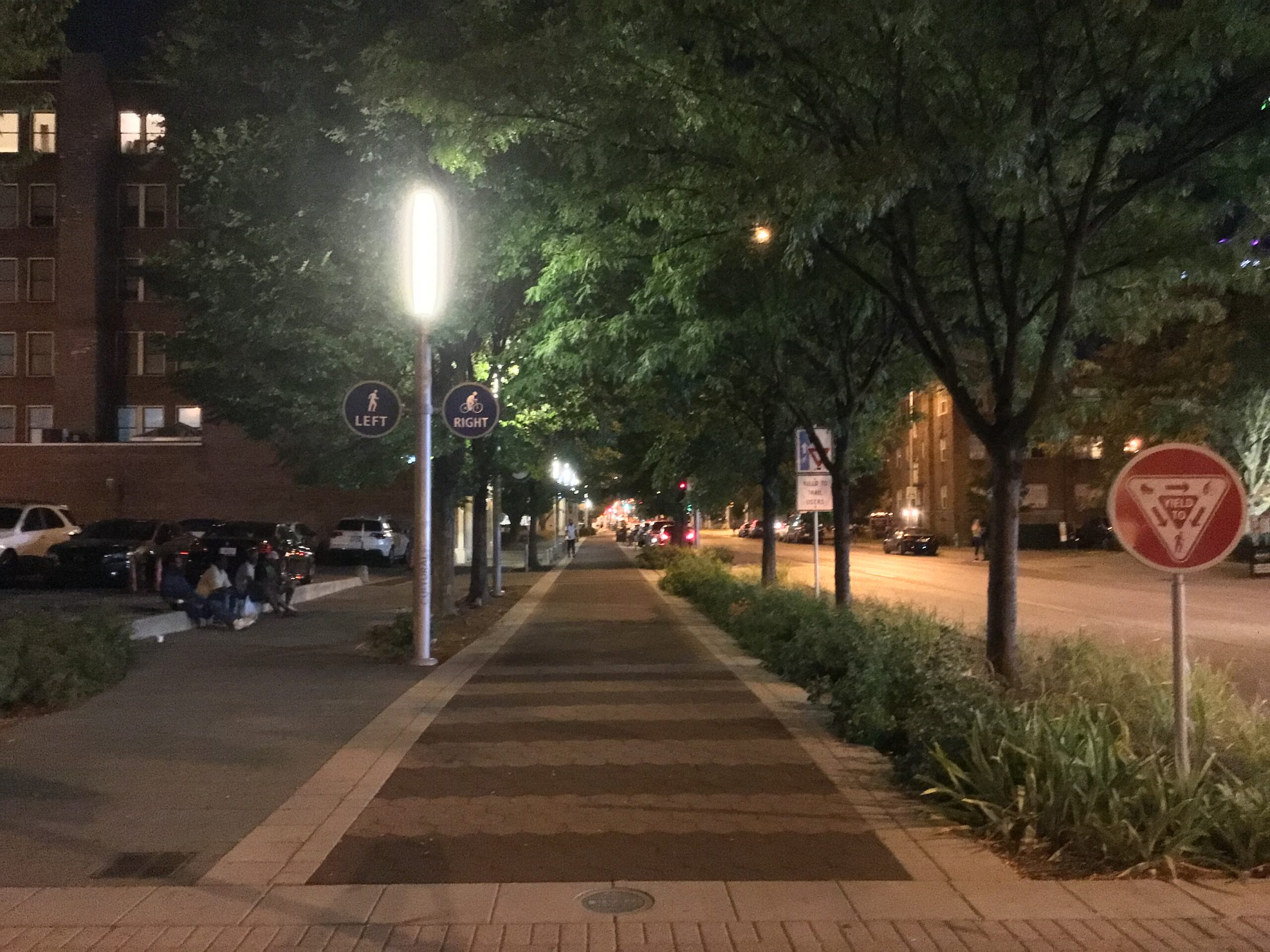 Mobility Greenway at Night (Indianapolis Cultural Trail)